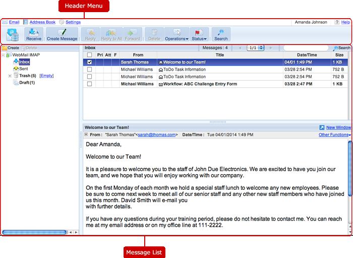 WebMail IMAP